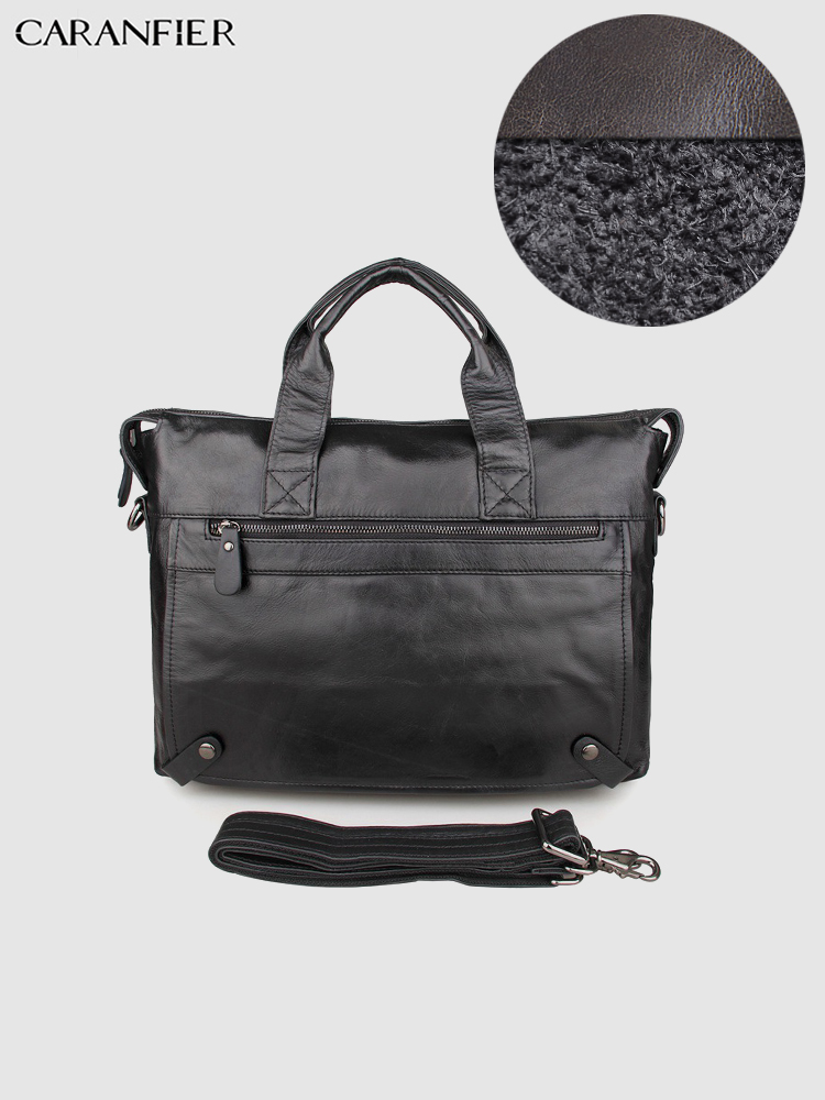 CARANFIER Mens Travel Bags Real Leather Briefcase Large Capacity Computer Notebook Business Fashion High Quality Messenger Bags