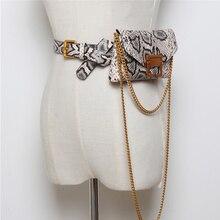 Роскошная брендовая змеиная поясная Сумка женская кожаная цепочка поясная сумка на поясе модная маленькая сумка для телефона Bum Сумки Fanny Pack heuptas