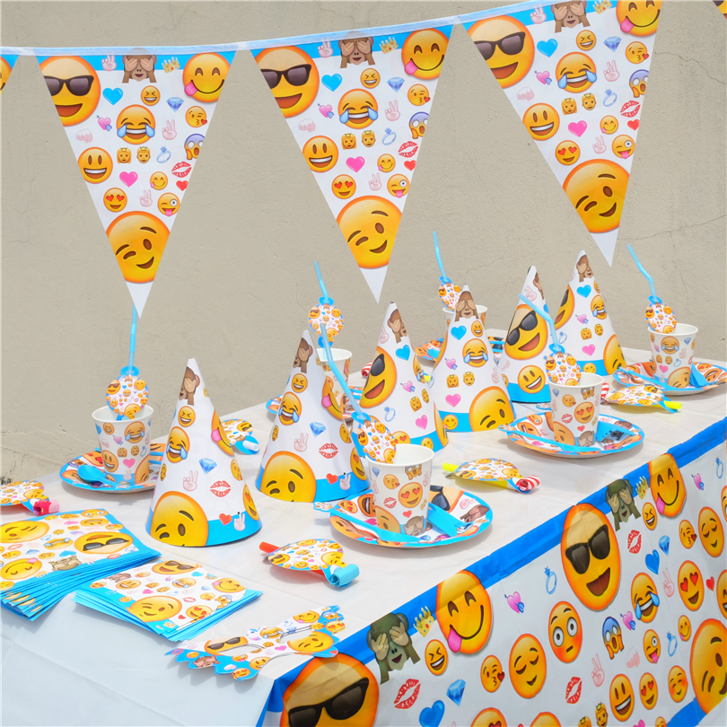 78pcs Emoji Smile Cry Kids Birthday Party Decoration Set Party Supplies Baby Birthday Party Pack event party supplies winnie the pooh iphone case