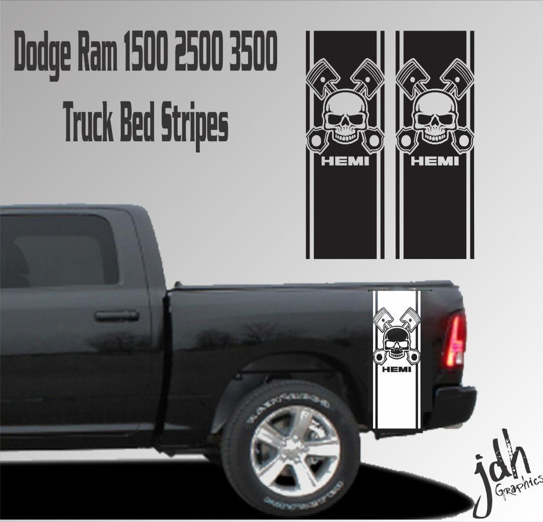 For Dodge Ram 1500 2500 3500 Truck Bed Stripe Vinyl Decal Sticker Hemi Skull Mopar Buy At The Price Of 19 99 In Aliexpress Com Imall Com