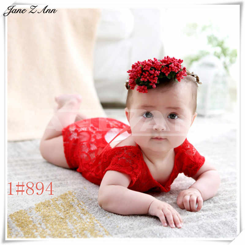 ... Jane Z Ann Accesorios fotografia bebe 1 year Children infant  photography clothing hat headband + 5d9359204c2