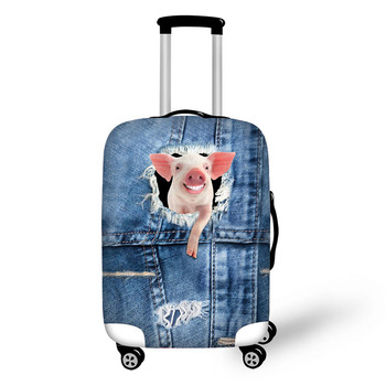 Cowboy Animal Denim Pattern Travel Accessories Suitcase Protective Covers 18-32 Elastic Luggage Dust Cover Case Stretchable Bag pvc suitcase bag protective covers transparent rain dust luggage travel accessories wear resistant bag protect parts sleeve case