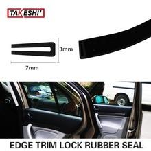 Car 7x3mm U Channel pillar Black Edge Trim Rubber Seal Strip 394″ 1000cm Car Truck Trailer exterior interior weatherstrip #50
