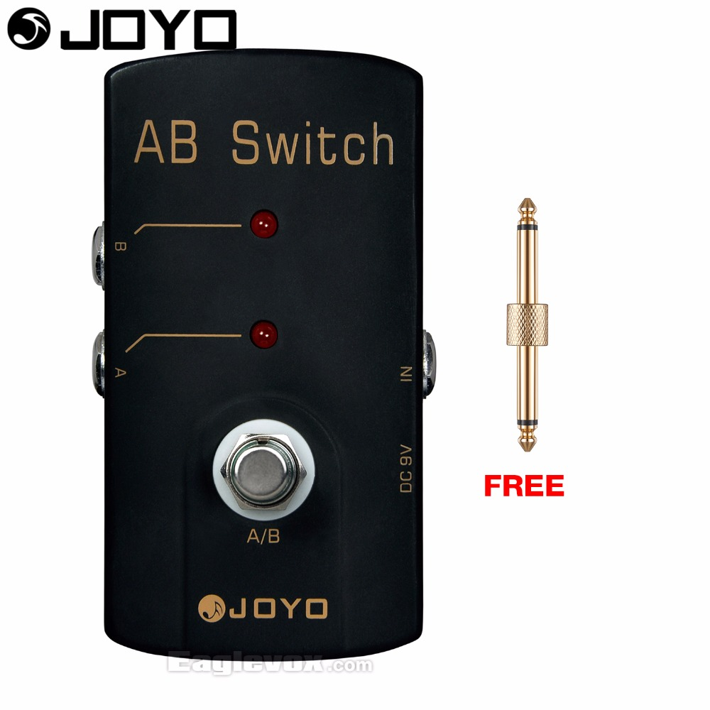 JOYO JF-30 A/B Switch Electric Guitar Effect Pedal True Bypass with Free Connector joyo jf 317 space verb digital reverb mini electric guitar effect pedal with knob guard true bypass