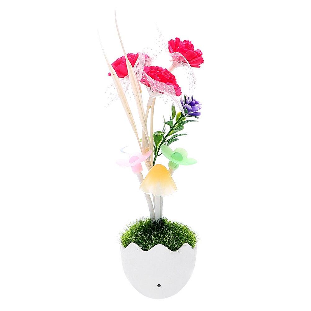 iTimo Light Sensor Color Changing Mushroom Flower Lamp Wall Lamp Energy Saving For Bedside Baby Nursery US Plug LED Night Light