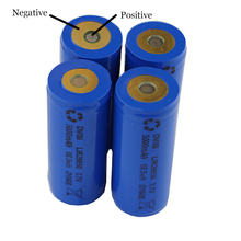 4Pcs lot DVISI 3 7V 5000mAh 26650 Rechargeable Battery Positive and Negative in same side with