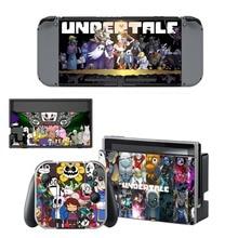 Autocollant de peau en vinyle Undertale pour Console Nintendo Switch NS + contrôleur + support de Film de protection