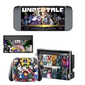 Image 1 - Autocollant de peau en vinyle Undertale pour Console Nintendo Switch NS + contrôleur + support de Film de protection