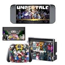 Undertale pegatina de piel de vinilo para consola Nintendo Switch NS, controlador y soporte, película protectora
