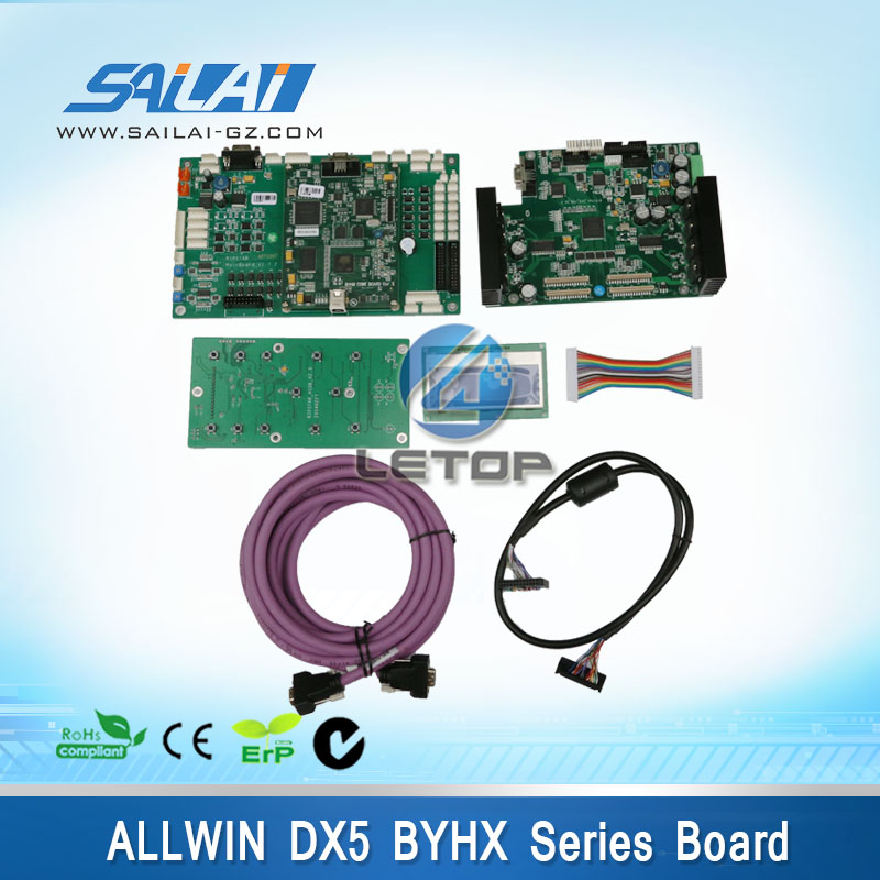 цена Best Price!! a set allwin dx5 printhead eco solvent printer byhx main board head board