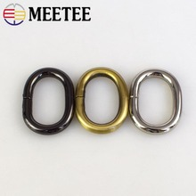 10pcs MEETEE luggage hardware accessories oval connecting ring buckle 2.5 cm inner diameter