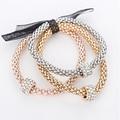 Стразы шарм браслеты & браслеты для женщин из розового золота/посеребренные упругой цепочки сплава цинка женщин браслет bijoux femme