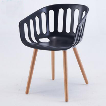 Yingyi Free Shipping Modern Plastic Dining Chair With Arms