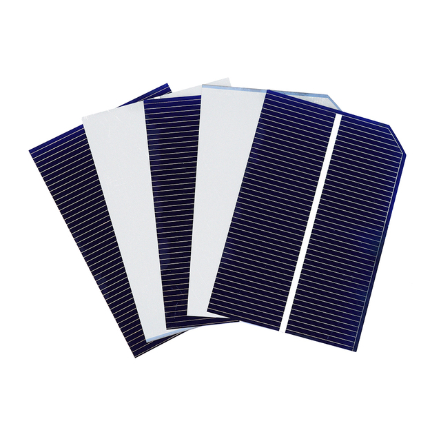 100 pcs 78*52MM Solar Panel China Painel Solar For DIY Solar Cell Photovoltaic Monocrystalline Panel DIY Solar Battery Charger