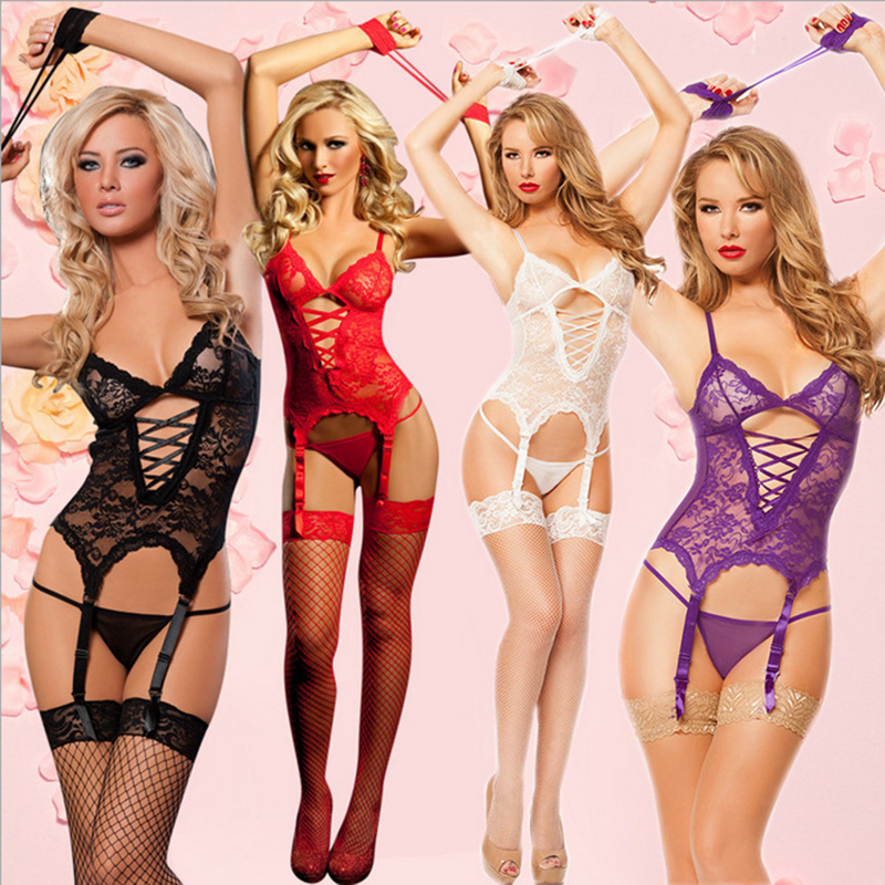 Hot sexy lingerie Transparent lace Handcuffs SM  cosplay inmates temptation uniform costume erotic undearwear lace sexy costumes