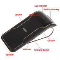 KWOKKER Drahtlose Bluetooth Car Kit Freisprecheinrichtung Bluetooth-freisprecheinrichtung Car Kit Für iPhone Smartphones mit Auto-ladegerät