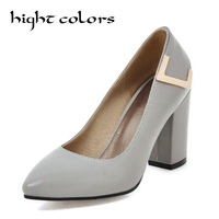 Large Size 34 43 Sexy Concise High Heels Women Shoes Woman Black Beige Blue Platform Office Lady Wedding Pumps
