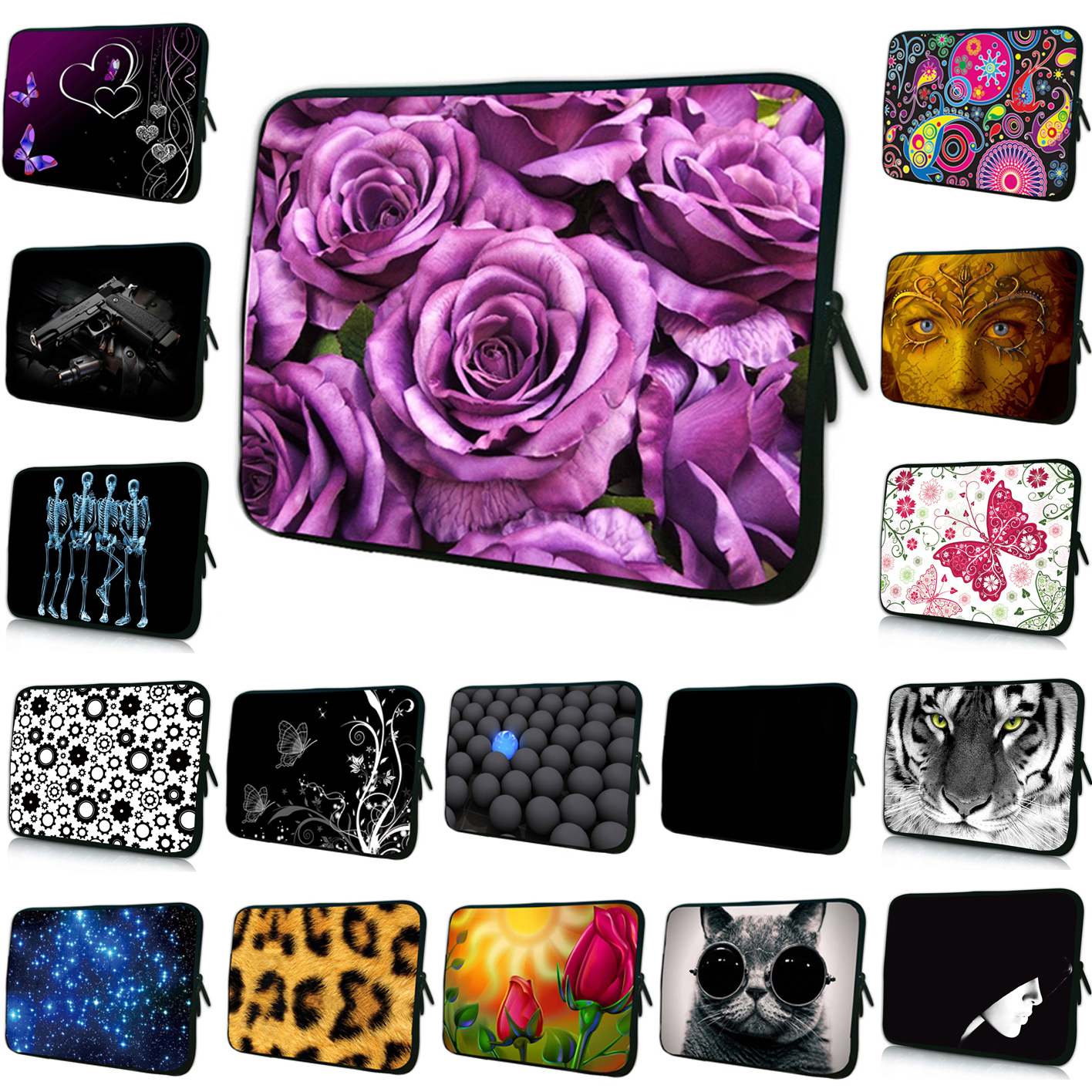 For 15.6 Dell Asus/15.5 Sony Vaio E Seriesse HP Fashion 15 14 17 13 12 10 7 Inch Laptop Sleeve Bags Notebook Soft Cases 2017 Hot