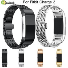 watch band Metal Strap For fitbit charge 2 wrist strap Screwless Stainless Steel Bracelet Fitbit charge2 Wristbands Replace