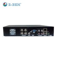 Z-BEN Novos Produtos 4CH AHD DVR Para 720 P/960 P/1080 P AHD Câmera de CCTV 4 Canais IP ONVIF NVR Rede H.264 Gravador de Vigilância