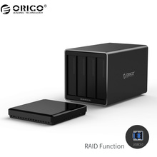 ORICO NS400RU3 4 Bay USB3.0 Hard Drive Dock with Raid Support 40TB storage 5Gbps UASP with 12V5A Adapter Tool Free HDD Enclosure