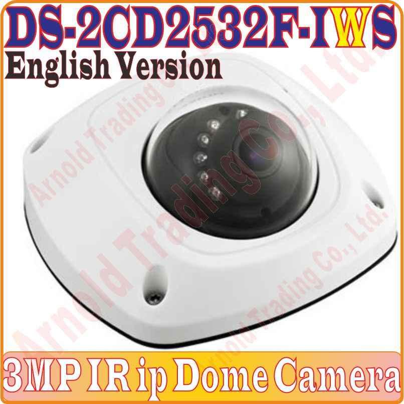 Версия Eng Многоязычная купольная камера DS 2CD2532F IWS 3MP мини купол инфракрасная