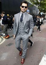 2019 серые мужские костюмы по индивидуальному заказу модные