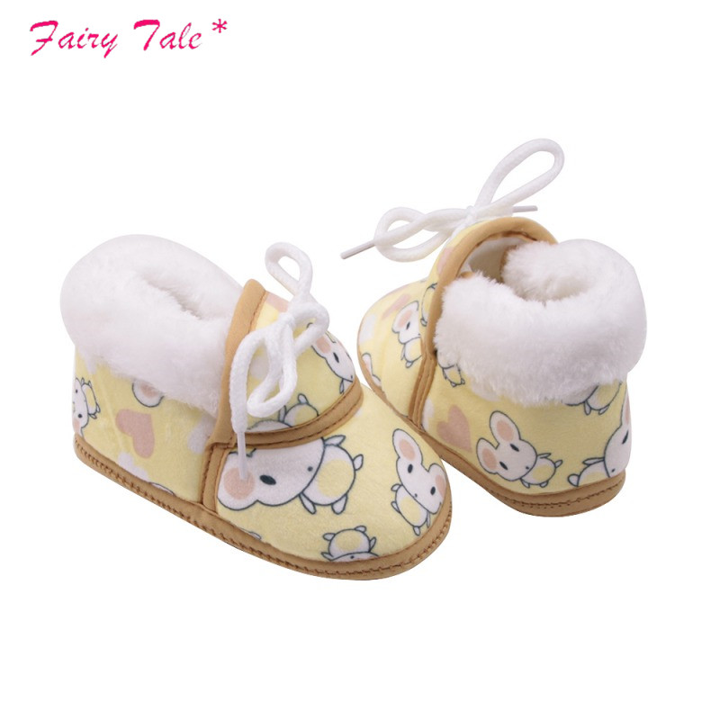 Humorous Baby Winter Boots Baby Girl Boots Little Mouse Cartoon Printed Cotton Strap Short Tube Warm Boots Baby Shoes Lights & Lighting