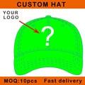 E116-17 children size customize design cap buckle close cotton baseball sport bent visor custom hat small order