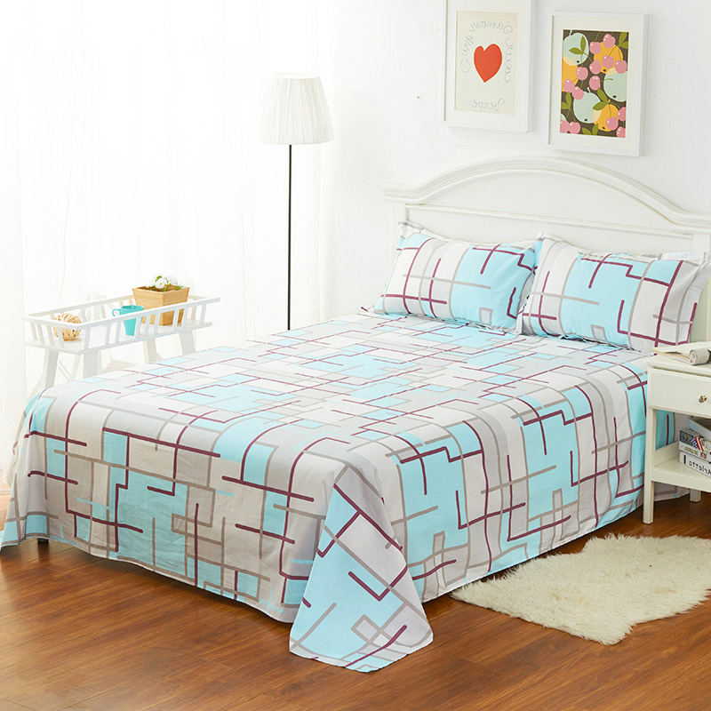 high quality home flat sheet 1pcs 100 cotton bed sheet cartoon twin size bed sheets for 12m bed 160230cm