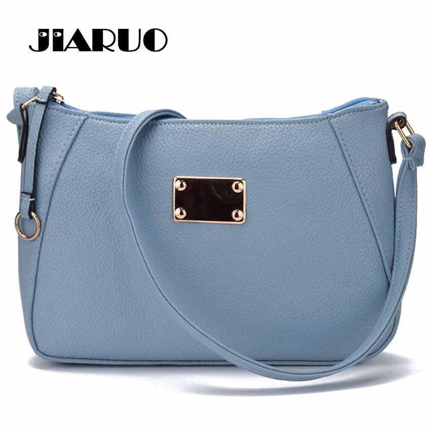 JIARUO Ring Top zipper Fashion Pebble Leather Small Women Messenger bag  Crossbody bags Sling Shoulder bags 2f0206ffa24c2