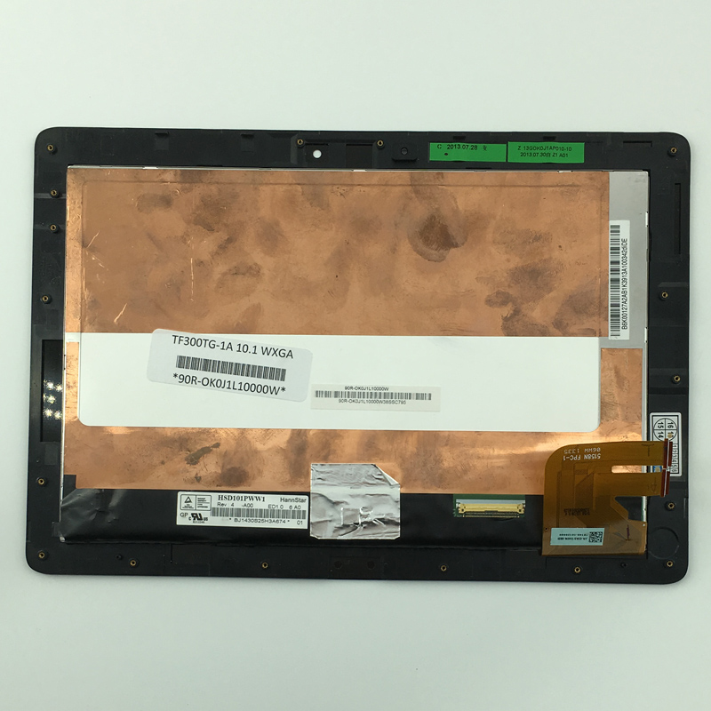 used parts LCD Display Glass Panel Touch Screen Digitizer Assembly frame For Asus Transformer Pad TF300 TF300TL 5158N FPC-1 3G 10 1 new for asus transformer pad tf300 tf300t 5158n fpc 1 tablet touch screen digitizer glass panel ja da5158n ibb
