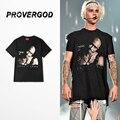 PROVERGOD Street Hip Hop Funny Character Pattern T Shirt Summer Casual Short Sleeve O Neck T-shirt Oversize M-2XL