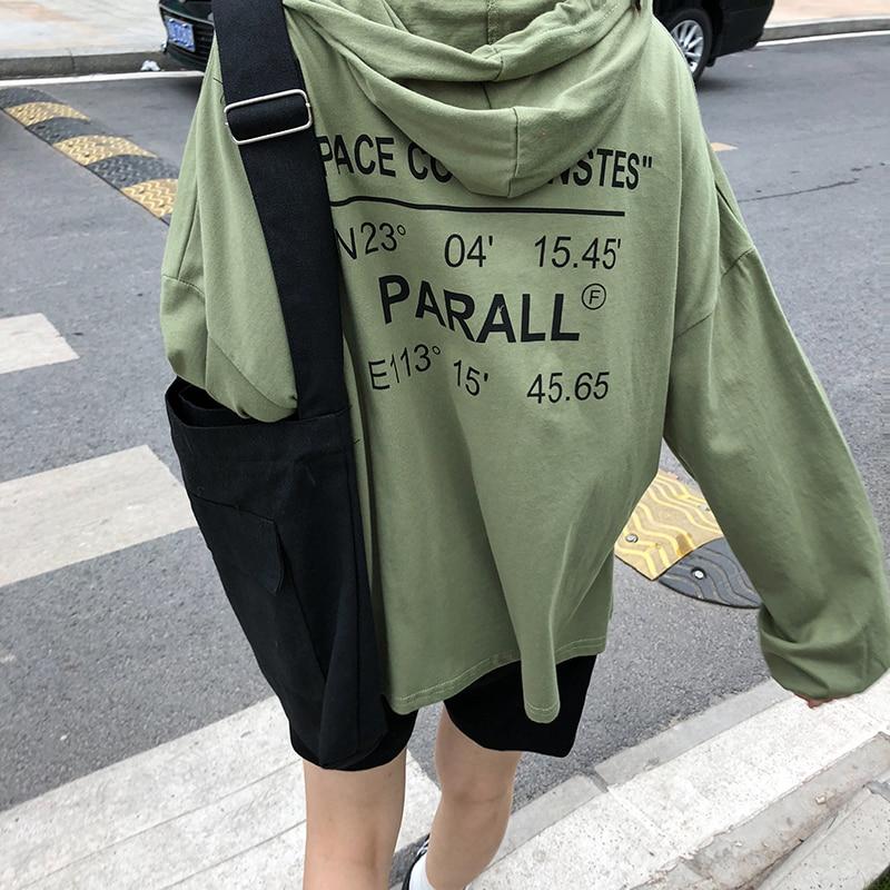 Sweatshirt Hoodie Woman Clothing 2018 Autumn Korean Ulzzang Harajuku Letters Printed Long Sleeve Hooded Sweatshirts Female Tops hoodie