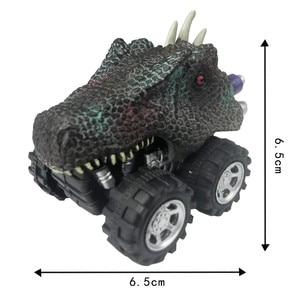 Image 3 - Offre spéciale Mini dinosaure voiture modèle enfants jouet dinosaure tirer arrière voiture jouet tyrannosaure voiture Action Figure jouets cadeaux de noël