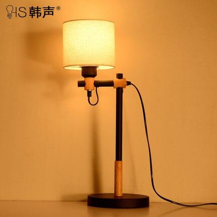Retro restaurant North American type iron lamp rural industrial study desk study bedroom ...
