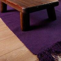 Purple Cotton Carpet Soft Baby Crawling Blanket Bedroom Carpet