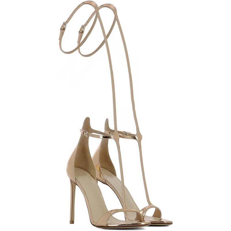 Y0136705q Mince Chaussures Sangle Hauts Printemps D'été Ouvert Sexy Femmes Bout Mode Meilleur Pompes Bureau or Beige Talons À Pour Boucle vIvqTxfnZ