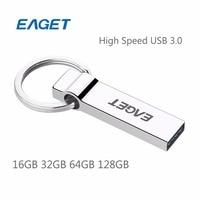 EAGET U90 USB Flash Drive 128 GB 64 GB 32 GB 16 GB USB 3.0 Anel Chave de Memória Flash da Vara Pendrive À Prova D' Água de alta Velocidade U Disco vara