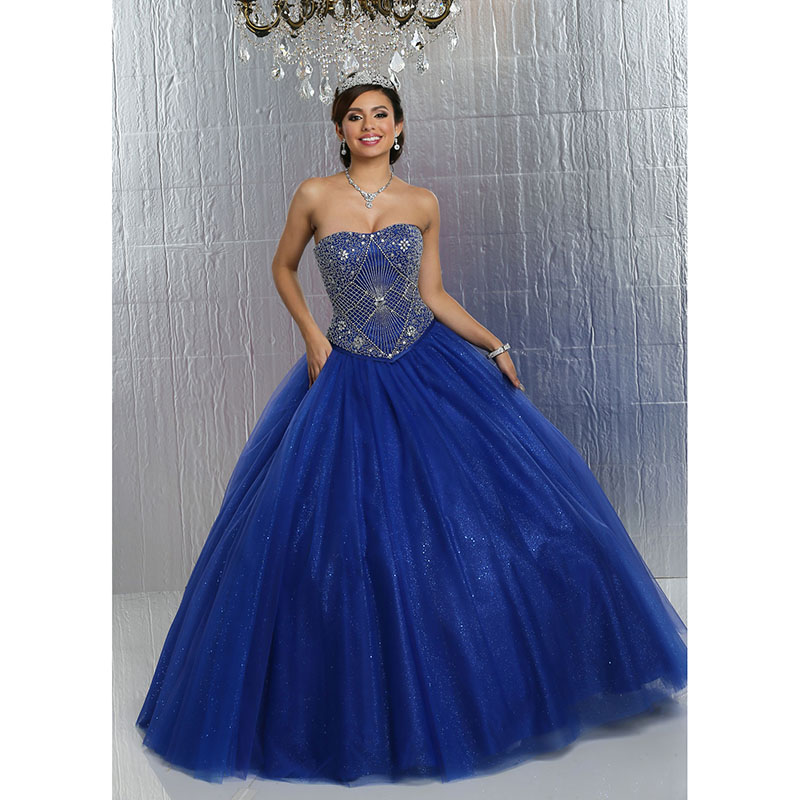 Aliexpress.com : Buy Stunning Royal Blue Quinceanera Dress Ball ...