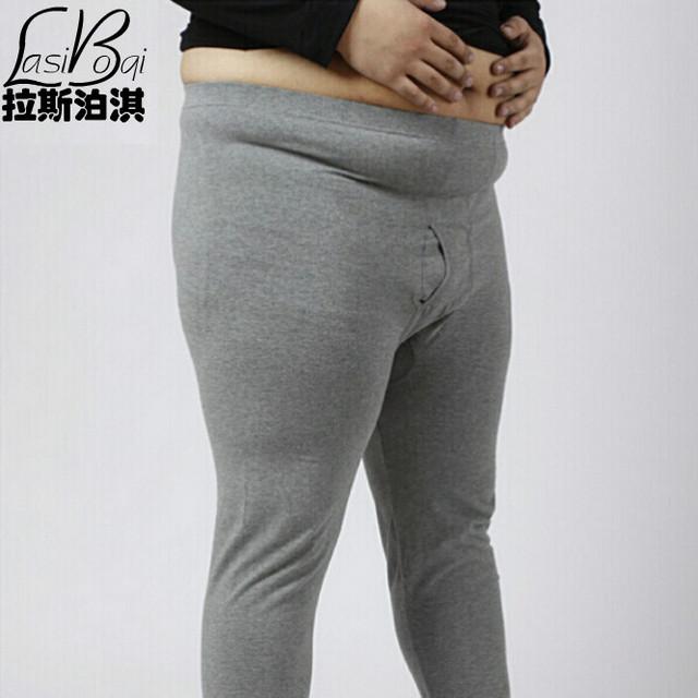 Venta caliente de alta calidad barato nuevos hombres de gran Señor largo atractivo línea de grasa masculina johns más el tamaño de algodón calzoncillos de algodón básicas pantalones
