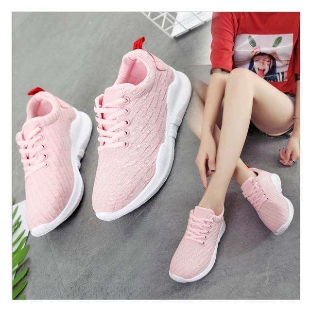 Oeak New 2019 Women Flat  Sneakers Shoes Female Mesh Lace-up Vulcanized Ladies Fashion Casual Breathable Soft Plus Size(China)