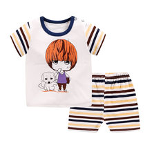 Luna Blanco Summer short sleeve Baby Sets Casual Sports Boy T-shirt + Shorts Kids Sets Suit Toddler Clothing Baby Boy Clothes(China)
