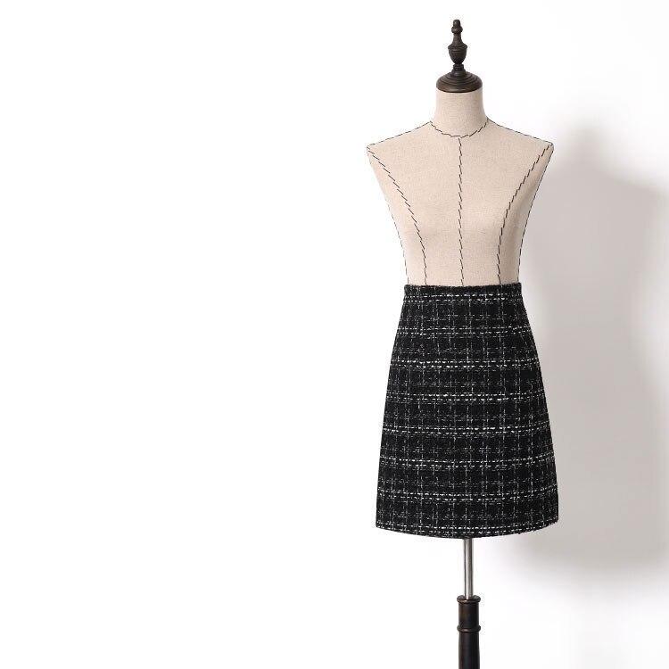 Nouveau DQ0053 coupe tissu grille pack hip jupes qiu dong femme plover cas une allure jupe de taille haute