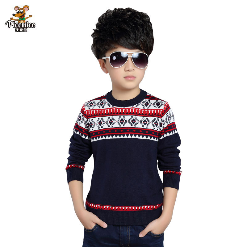 Knitted Sweater For Boys 2018 Autumn Winter 3-12 years old Boy Sweater Children Christmas Sweaters Boy Pullover Kids Clothing baby boy sweater child clothes autumn knitted tops fall boys sweaters 2018 winter fake designer kids knit pullover for children