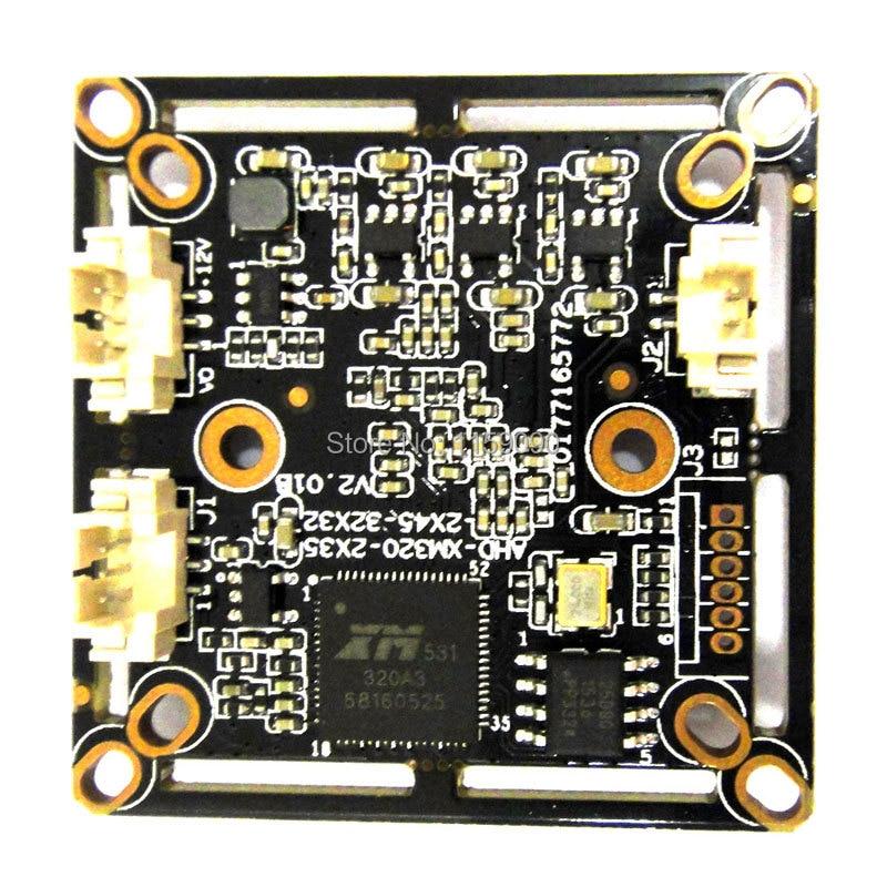 "1//2.8/"" PCB board 2.0mp AHD Module CCTV Camera 1080P Security CMOS sensor 3.6mm"