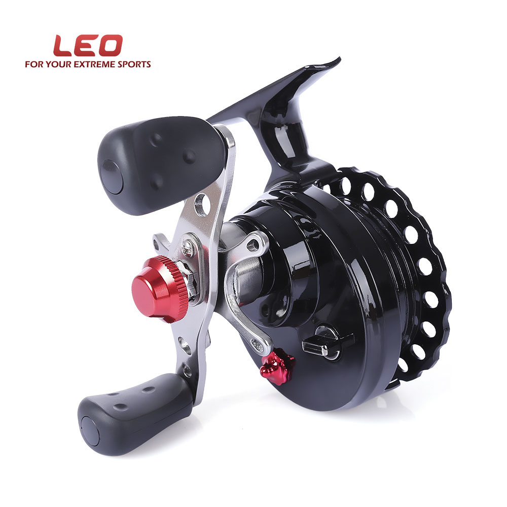 LEO Fly Fishing Reel DWS60 4 + 1BB 2,6: 1 65 MM Linken Hand die Rechte Hand Angelrollen Rad Hohe Fuß Fly Fishing Reel Rad Pesca