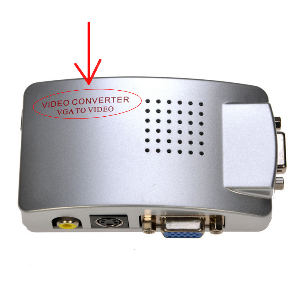 Newest Laptop PC VGA to TV AV RCA Composite video adapter converter Switch Box Support S-video RGB NTSC/PAL Computer Signal
