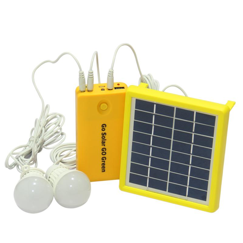 цена на LAIDEYI 1 Set Solar Power Panel Generator LED Light Bulbs 5V USB Charger Home System Outdoor Garden Solar Lamp Camping Light