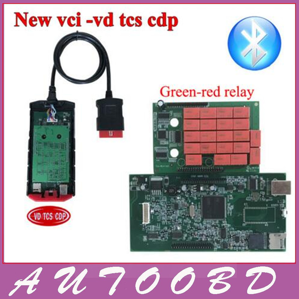 VD TCS CDP PRO Plus Bluetooth with Full Housing New Vci Green Red Relay for for
